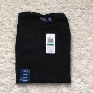 Brand new Izod v-neck black sweater